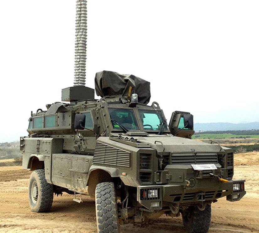 Military Vehicle Mounted Mast