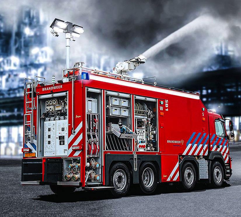 Emergency Vehicle Mounted Mast