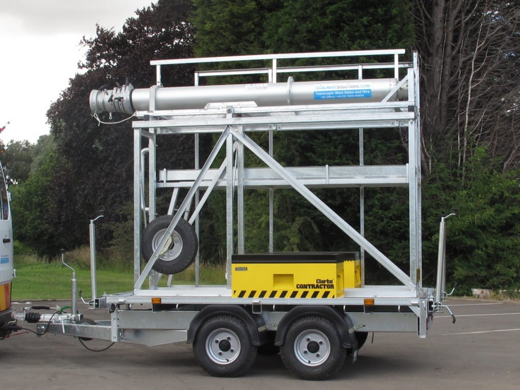 Total Mast Solutions Mast on Trailer