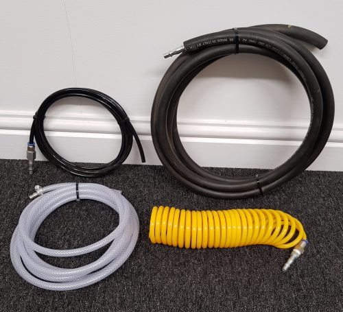 Numerous types of air supply pipe can be ordered including coiled types.