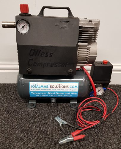 Compact portable compressor with air tank