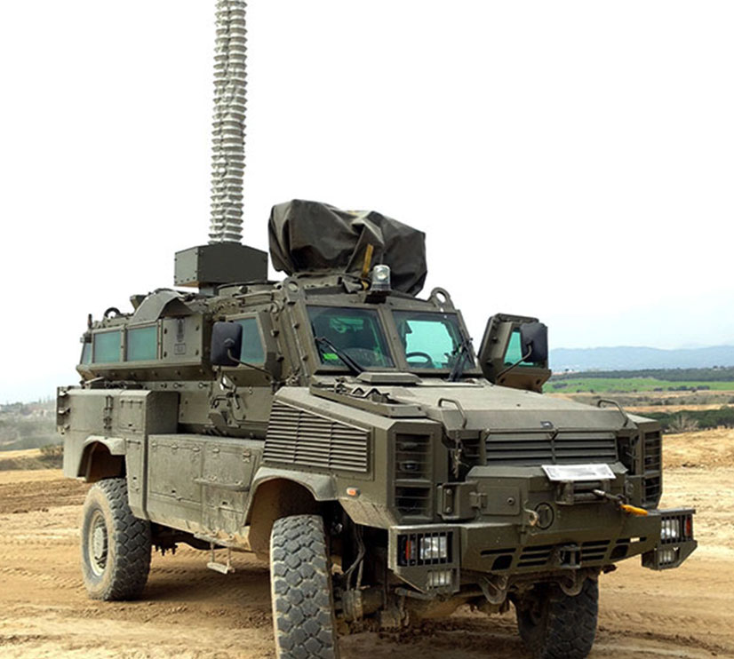 Military Vehicle Mounted Mast